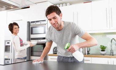 dapur bersih dengan bahan alami