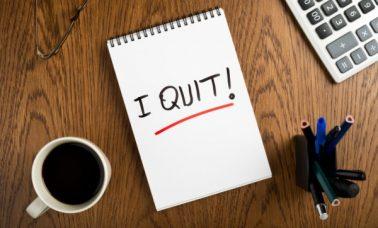 Resign dari tempat kerja